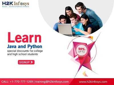 Up to 50 percent off on java and python classes.