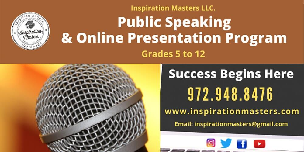 Public Speaking and Online Presentation Program Grades 5 -10